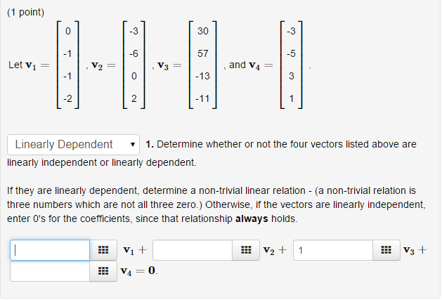 how to tell if vectors are linearly independent