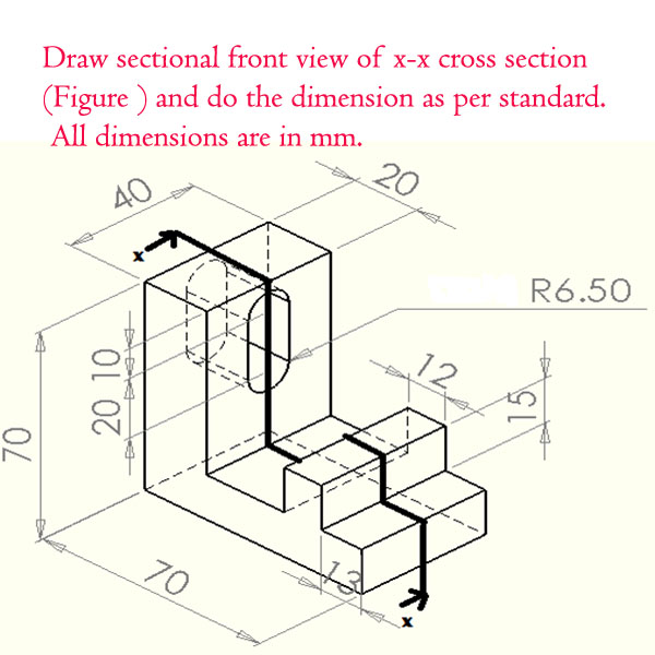how to draw angles in section
