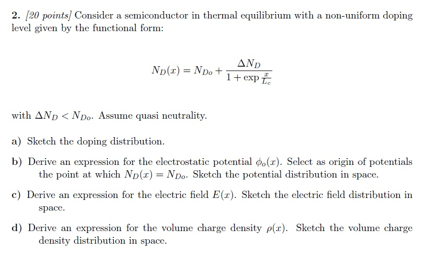 Consider a semiconductor in thermal equilibrium wi