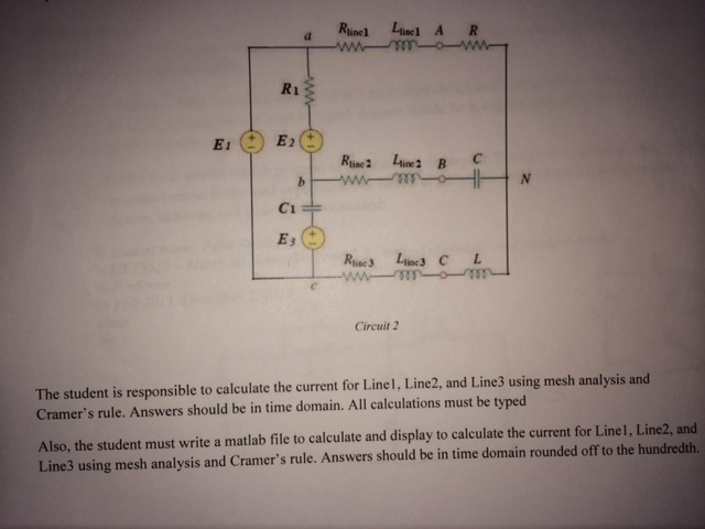 The student is responsible to calculate the curr