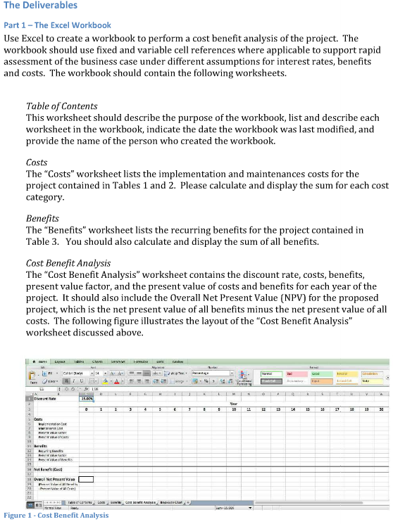 Part 1 Use Excel To Create A Workbook To Perform A – Cost Analysis Worksheet