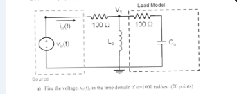 This problem utilizes the following circuit where: