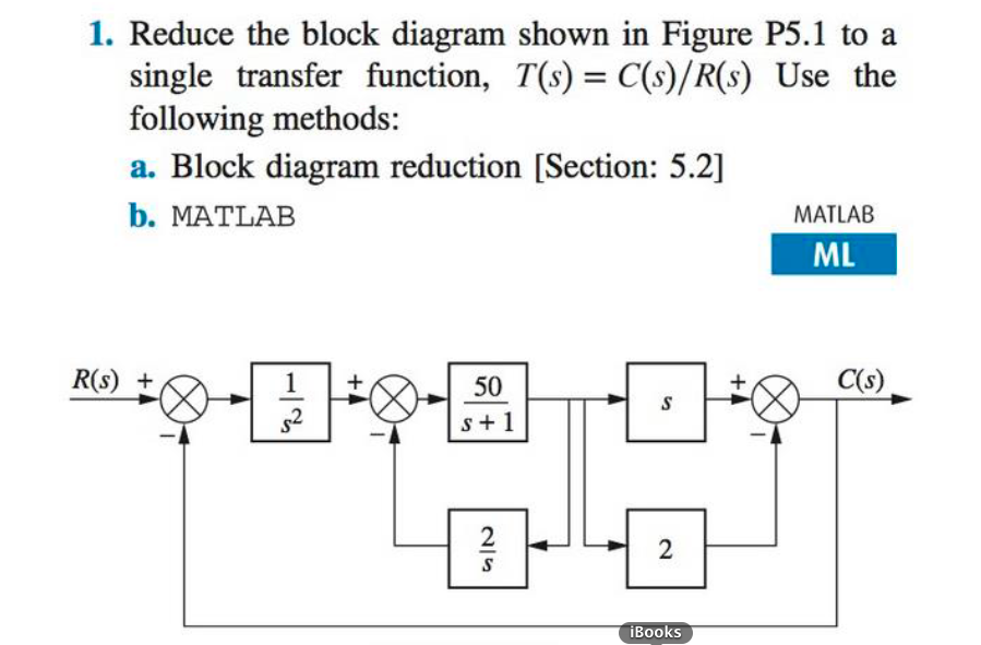 Solved reduce the block diagram shown in figure p51 to a reduce the block diagram shown in figure p51 to a single transfer ccuart Gallery