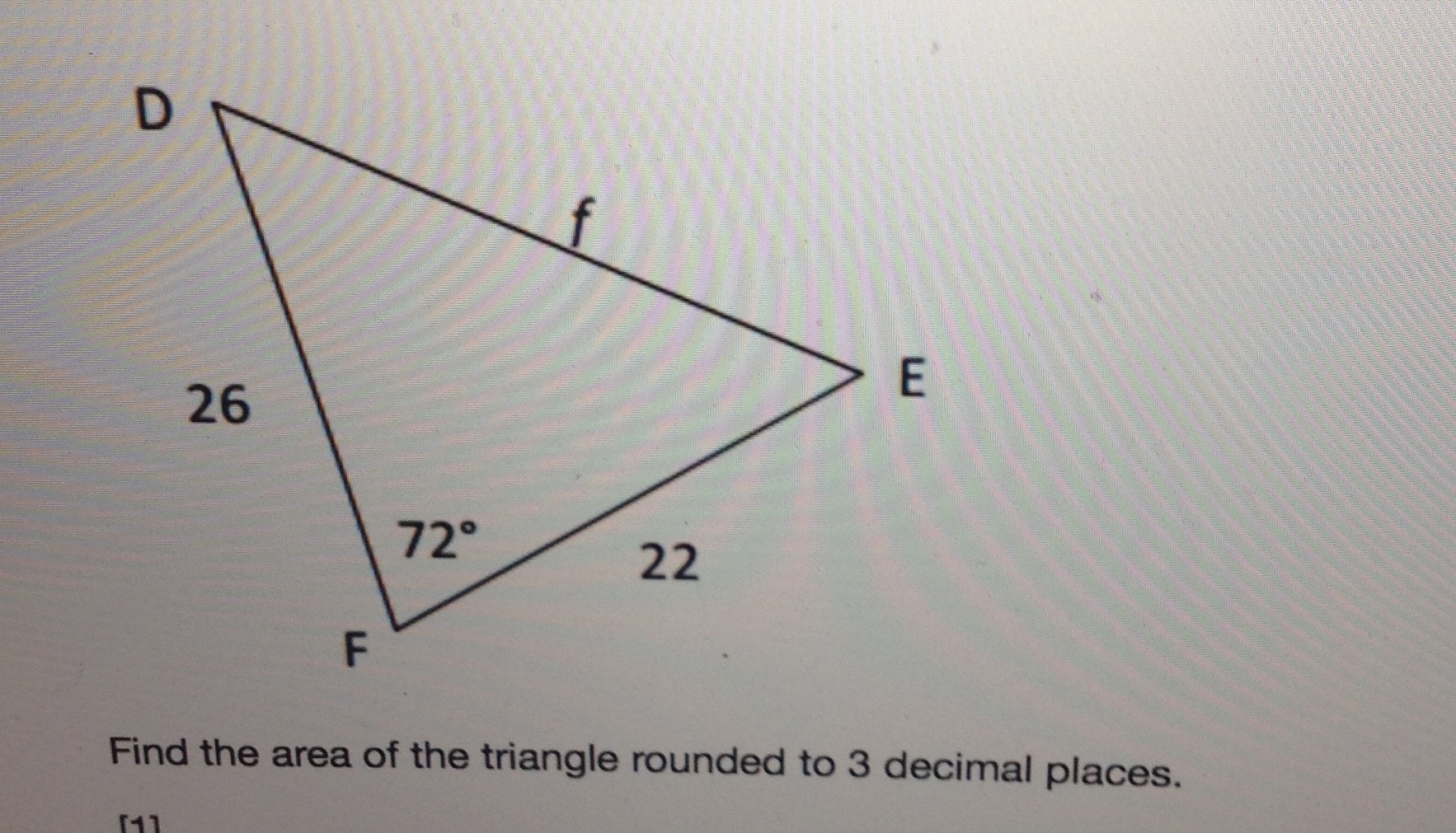 Dr 26 72 22 f find the area of the triangle rounde chegg image for find the area of the triangle rounded to 3 decimal places ccuart Gallery