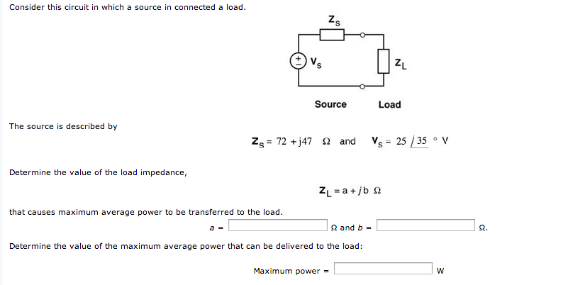 Consider this circuit in which a source in connect