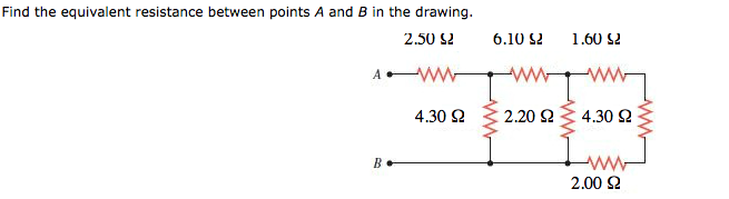 Find the equivalent resistance between points A an