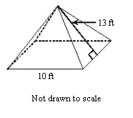 Find the volume of the square pyramid shown rond o chegg best answer ccuart Choice Image
