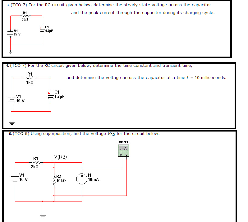 For the RC circuit given below, determine the stea