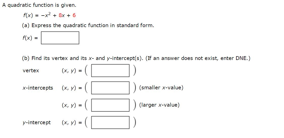 A Quadratic Function Is Given. F(x) = X2 + 10x + 2...   Chegg.com