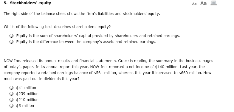 Stockholders' Equity The Right Side Of The Balance... | Chegg.com