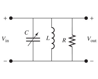 The circuit of an AM radio tuner is shown in the f