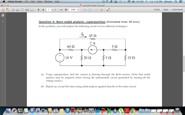 In this problem, you will analyze the following ci
