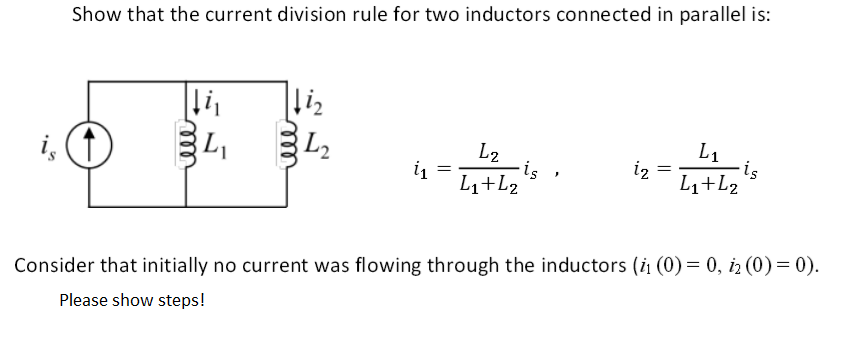 Show that the current division rule for two induct