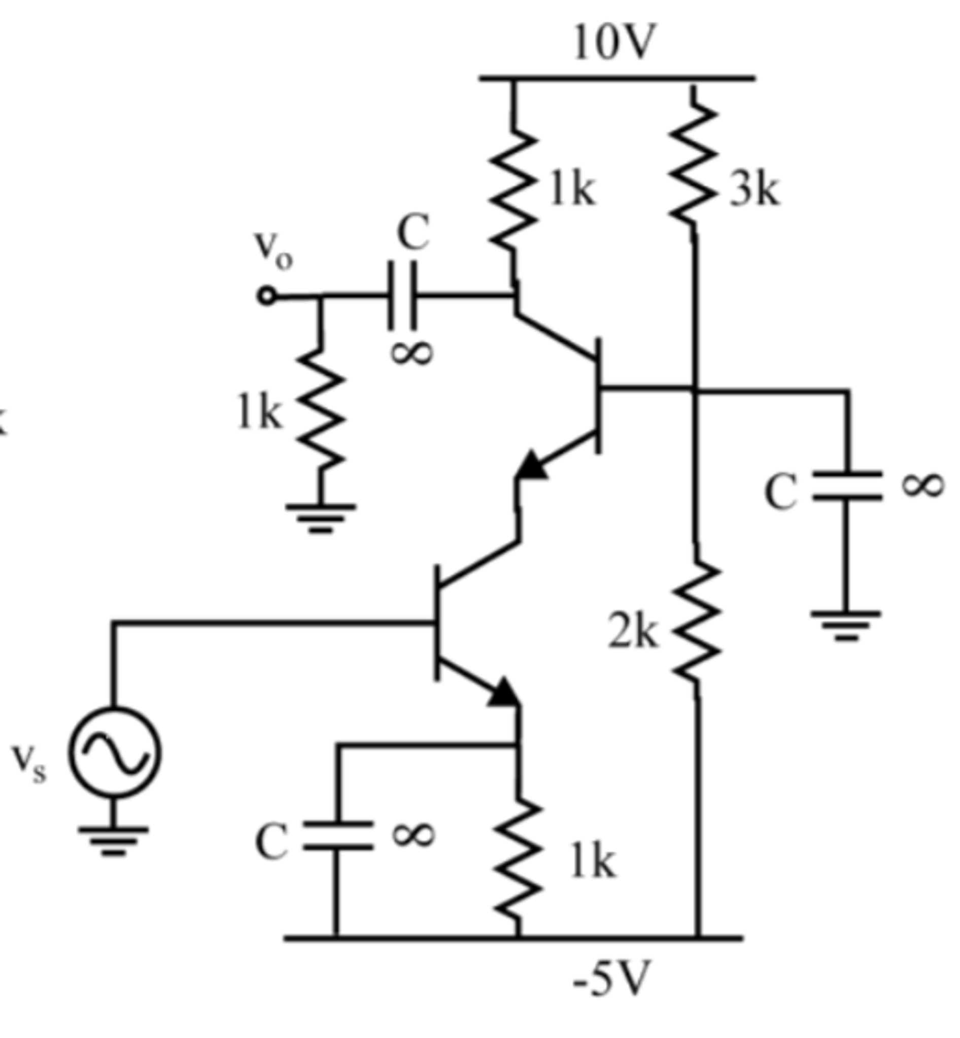 Solved: For The Following Circuit, Sketch The AC Equivalen ...