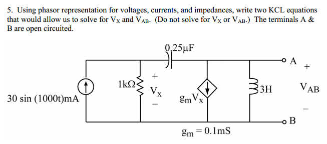 Using phasor representation for voltages, currents