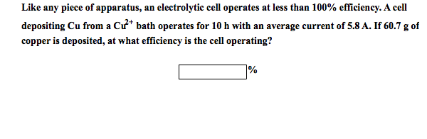 Like any piece of apparatus, an electrolytic cell