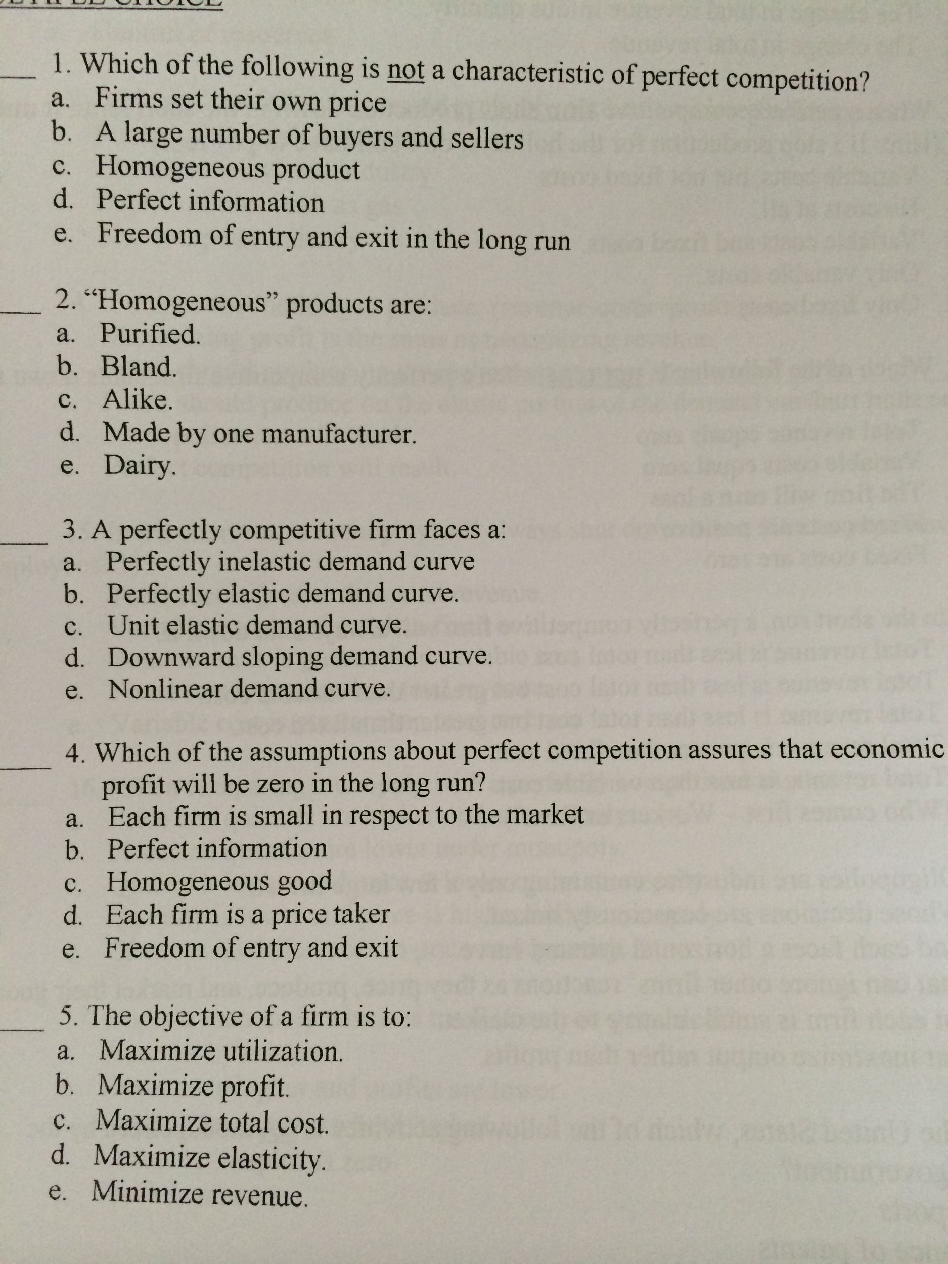 perfect competition and question Practice questions to accompany mankiw & taylor: economics 1 chapter 14 1  are the following markets likely to be perfectly competitive explain a.
