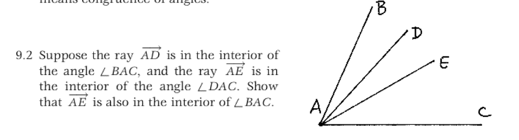 9.2 Suppose The Ray AD Is In The Interior Of The Angle L BAC, And