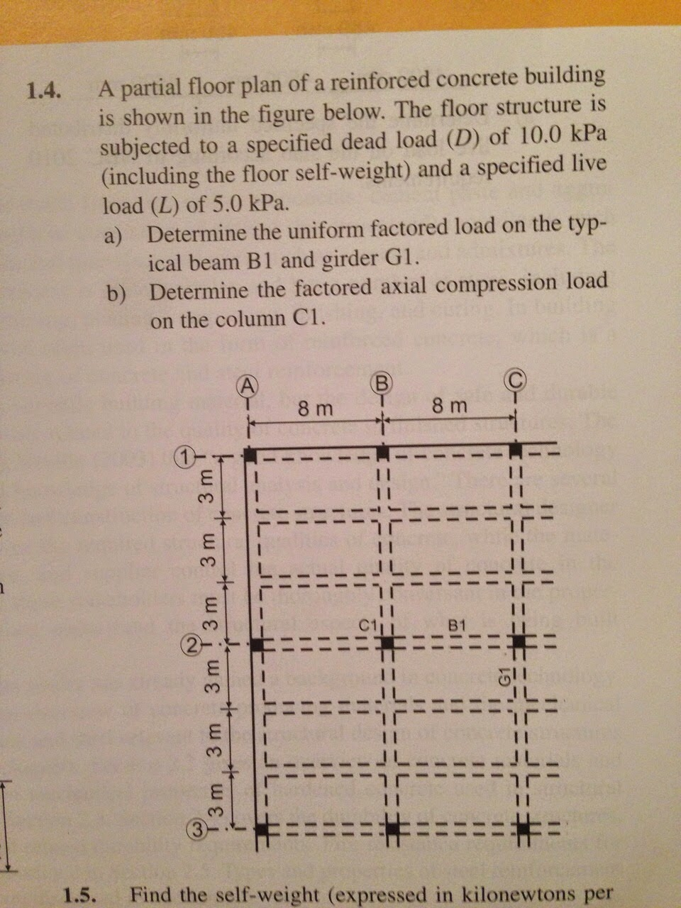 Solved: 1.4. A Partial Floor Plan Of A Reinforced Concrete ...