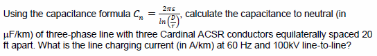 Using the capacitance formula Cn = calculate the