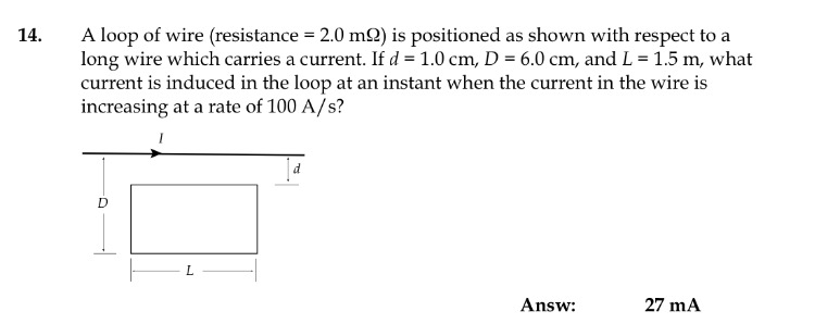 Solved: A Loop Of Wire (resistance = 2.0 M Ohm) Is Positio ...