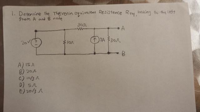 Determine the Thevenin equivalent Resistance RT4,