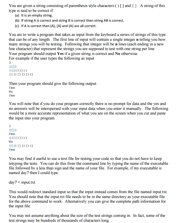 Solved You Are Given A String Consisting Of Parenthesis S