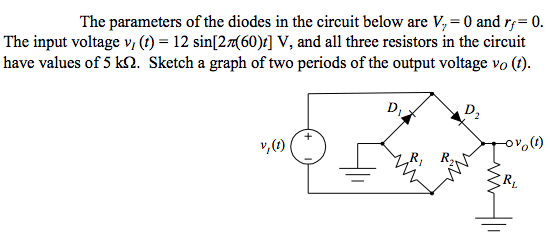 The parameters of the diodes in the circuit below