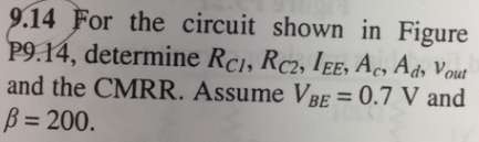 For the circuit shown in Figure P9. 14, determin