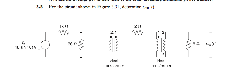 For the circuit shown in Figure 3.31, determine vo