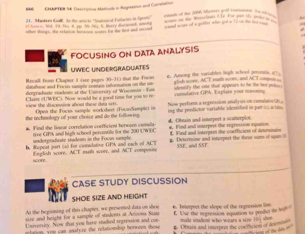 Focusing on Data Analysis: Usi