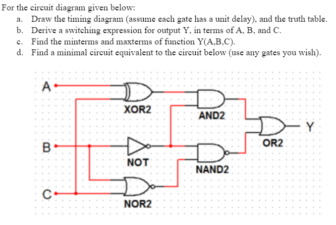 Solved: For The Circuit Diagram Given Below: A. Draw The T ...