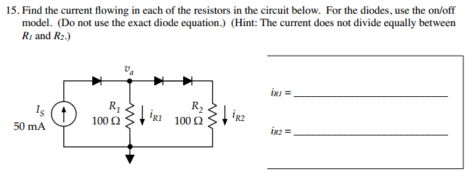 Find the current flowing in each of the resistors