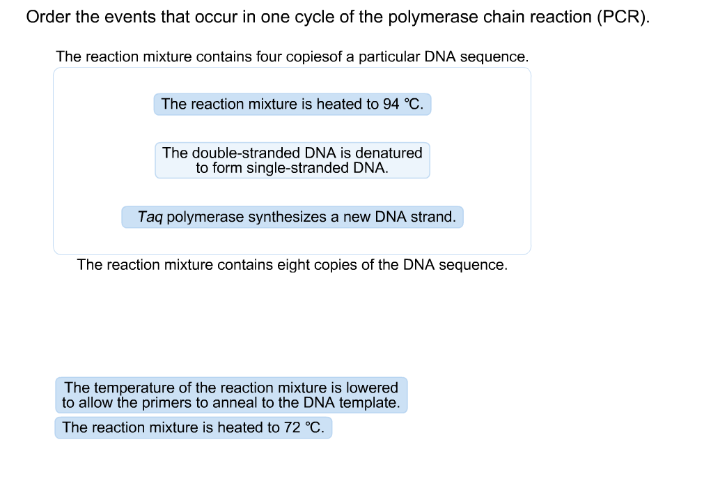 Solved: Order The Events That Occur In One Cycle Of The Po ...