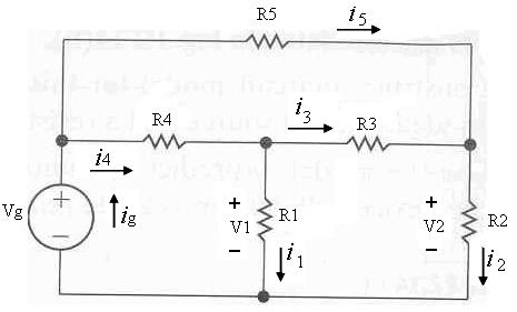 In the circuit above Vg is 94 V, R1 is 9 Ohm, R2