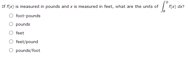 If f(t) is measured in meters/second 2 and t is me
