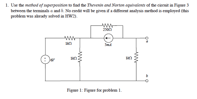 Use the method of superposition to find the Theven