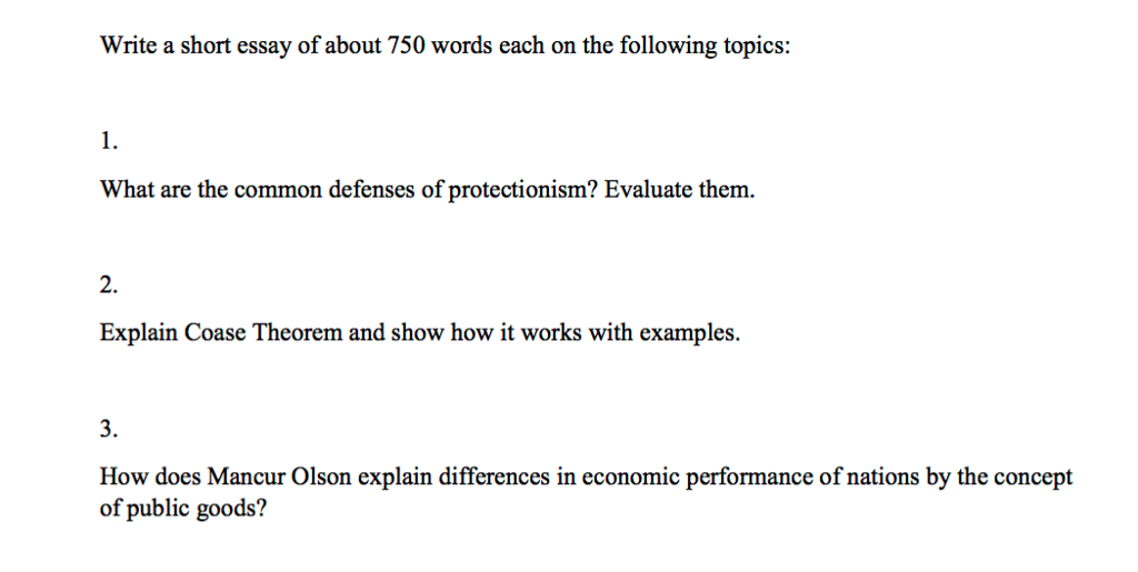 Question: Eachone consists of 750 words please , question already asked on chegg, but i want a diffrenet ...