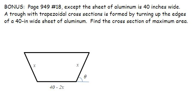 how to find the area of a cross section