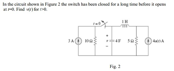 In the circuit shown in Figure 2 the switch has be