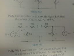 Consider the circuit shown in Figure P33. Find