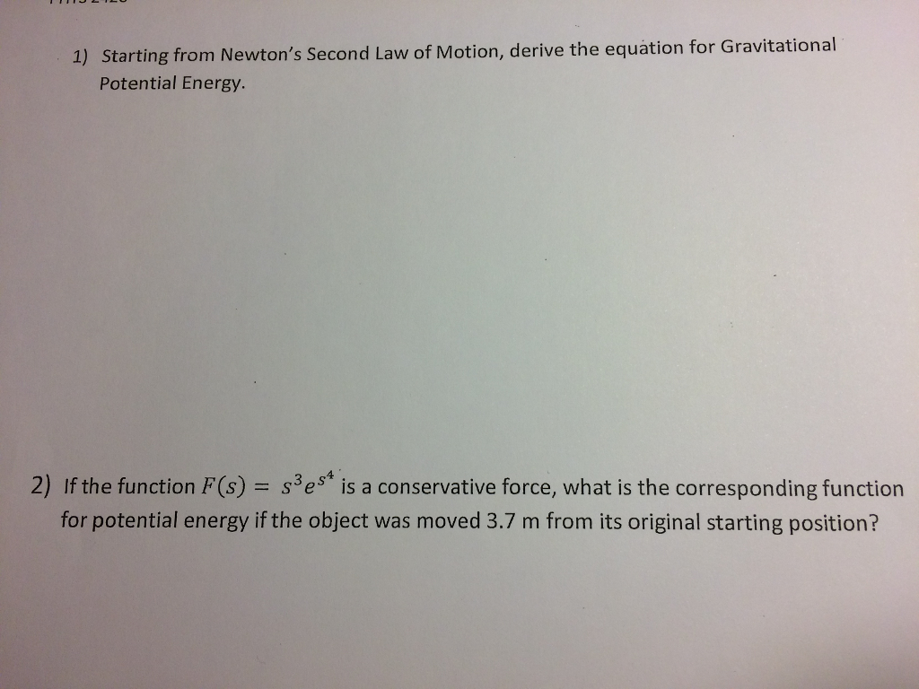 Starting from newton 39 s second law of motion deriv - Second hand mobile homes freedom in motion ...