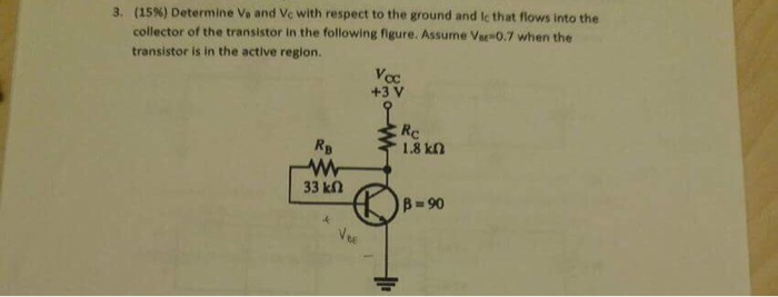 Determine V_a and V_c with respect to the ground a