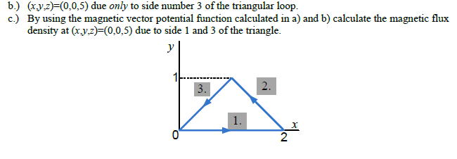 (x,y,z)=(0,0,5) due only to side number 3 of the t