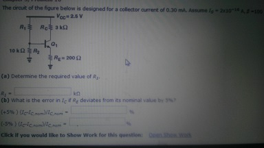 Determine the required value of R1.