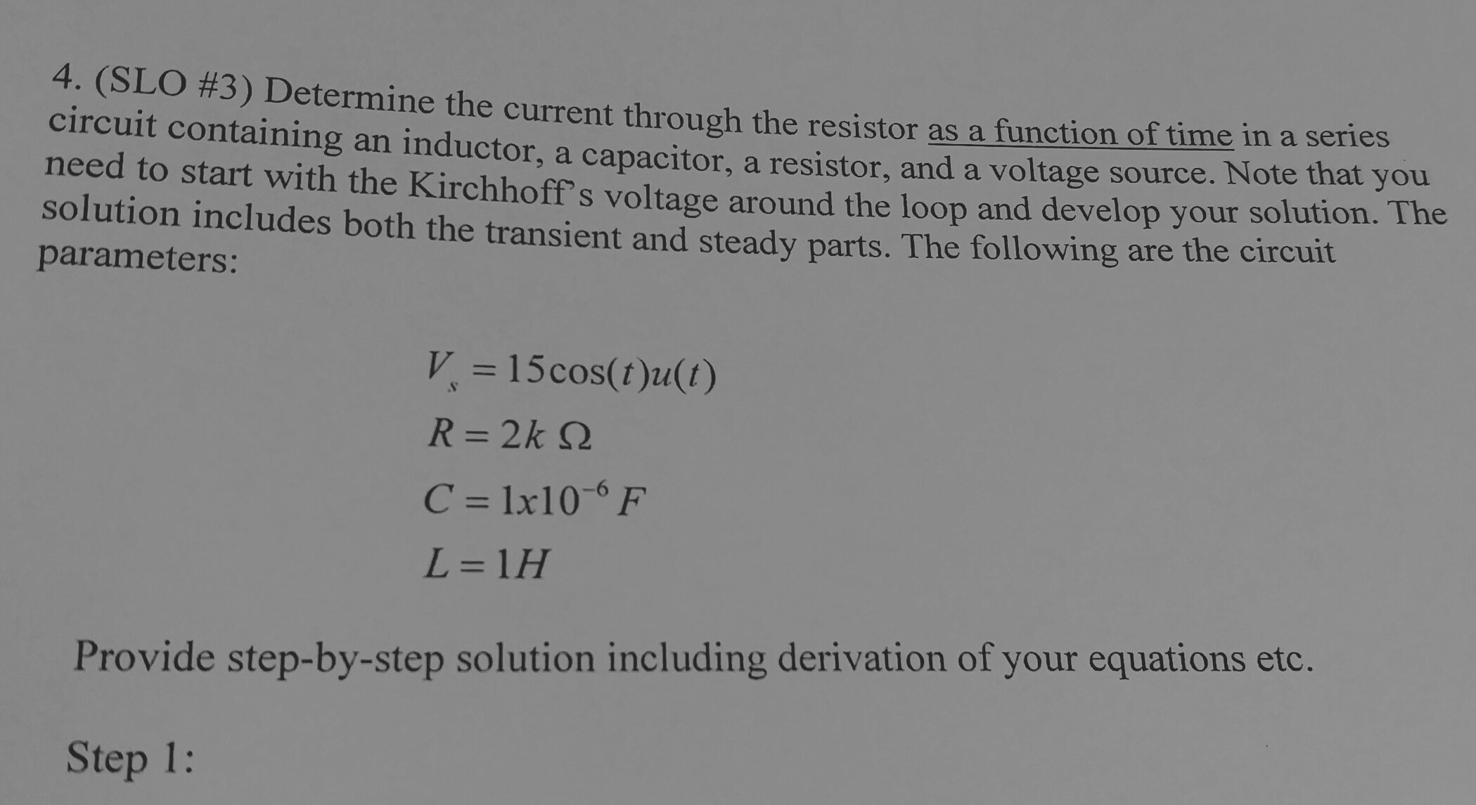 solved  please  no laplace transform solution  this proble