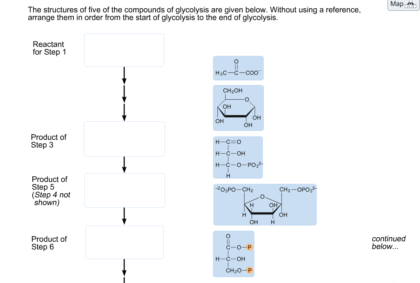 Solved the structures of five of the compounds of glycoly question the structures of five of the compounds of glycolysis are given below without using a reference pooptronica Images