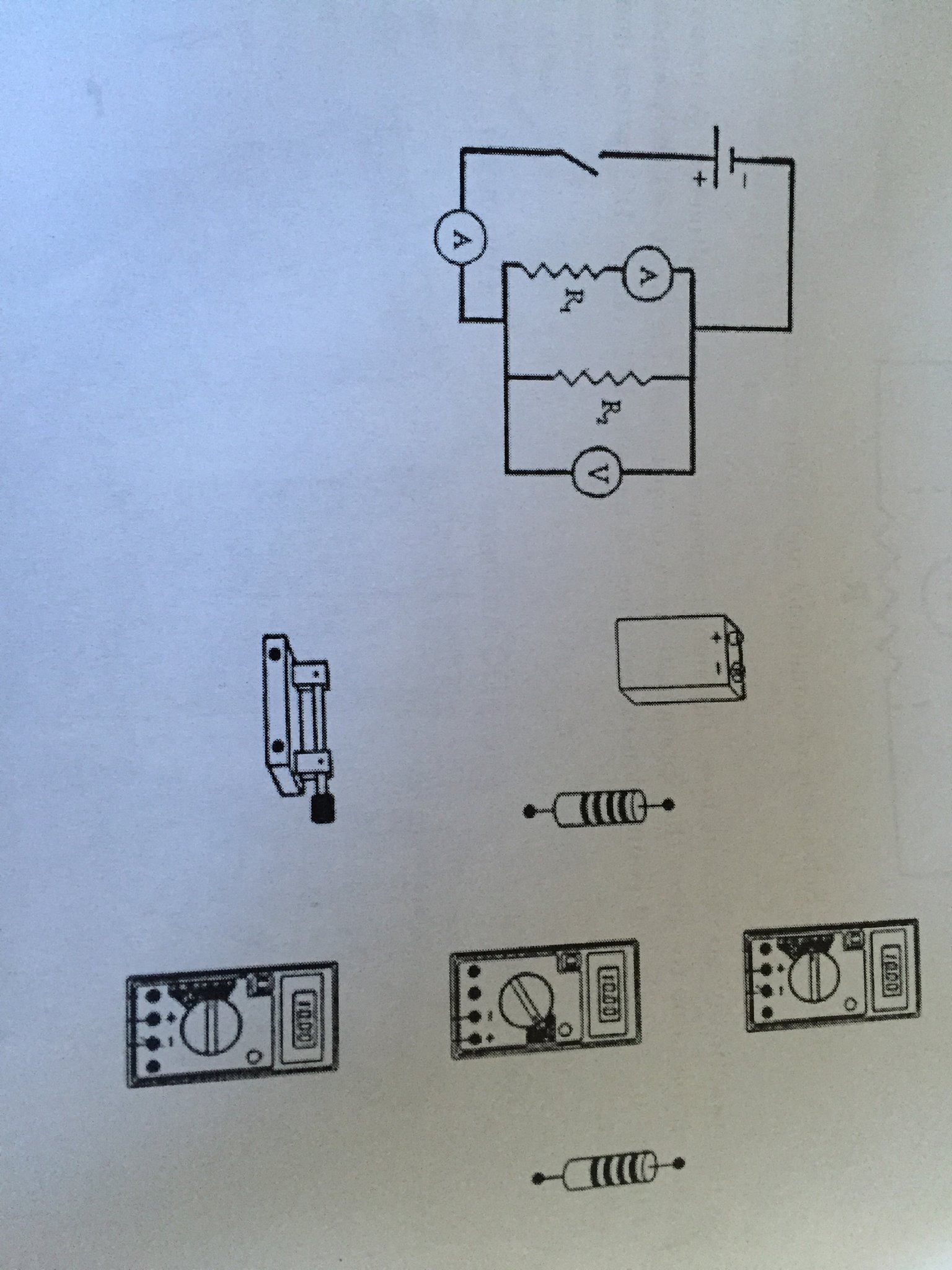 Solved: An Electrical Schematic Diagram Of DC Ciruit With ...