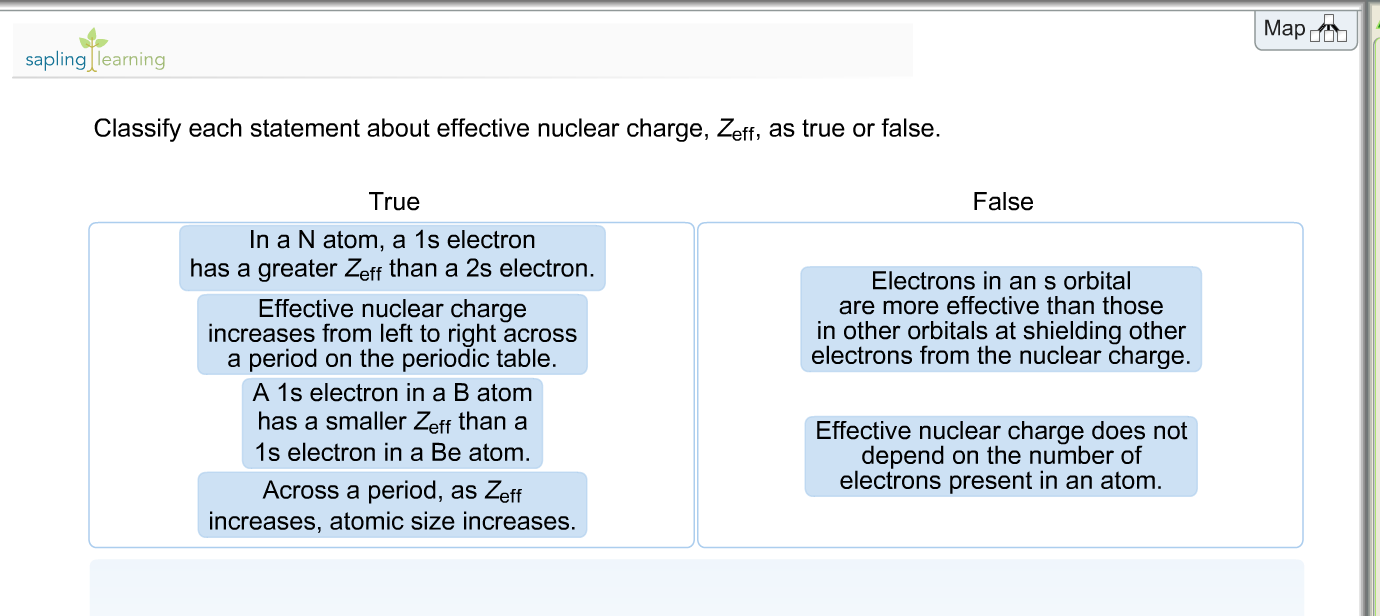 Solved classify each statement about effective nuclear ch classify each statement about effective nuclear ch urtaz Choice Image