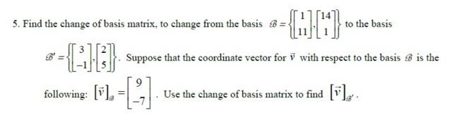 change of basis matrix pdf